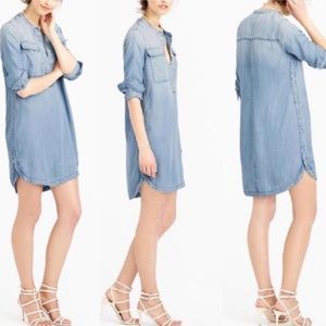 J. Crew Factory Chambray Shirtdress